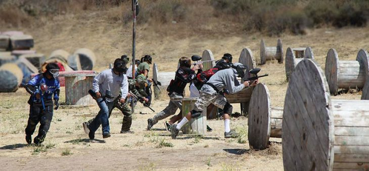 Paintball is a challenging group shooting sport